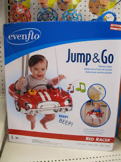 Evenflo Jump and Go Red Racer