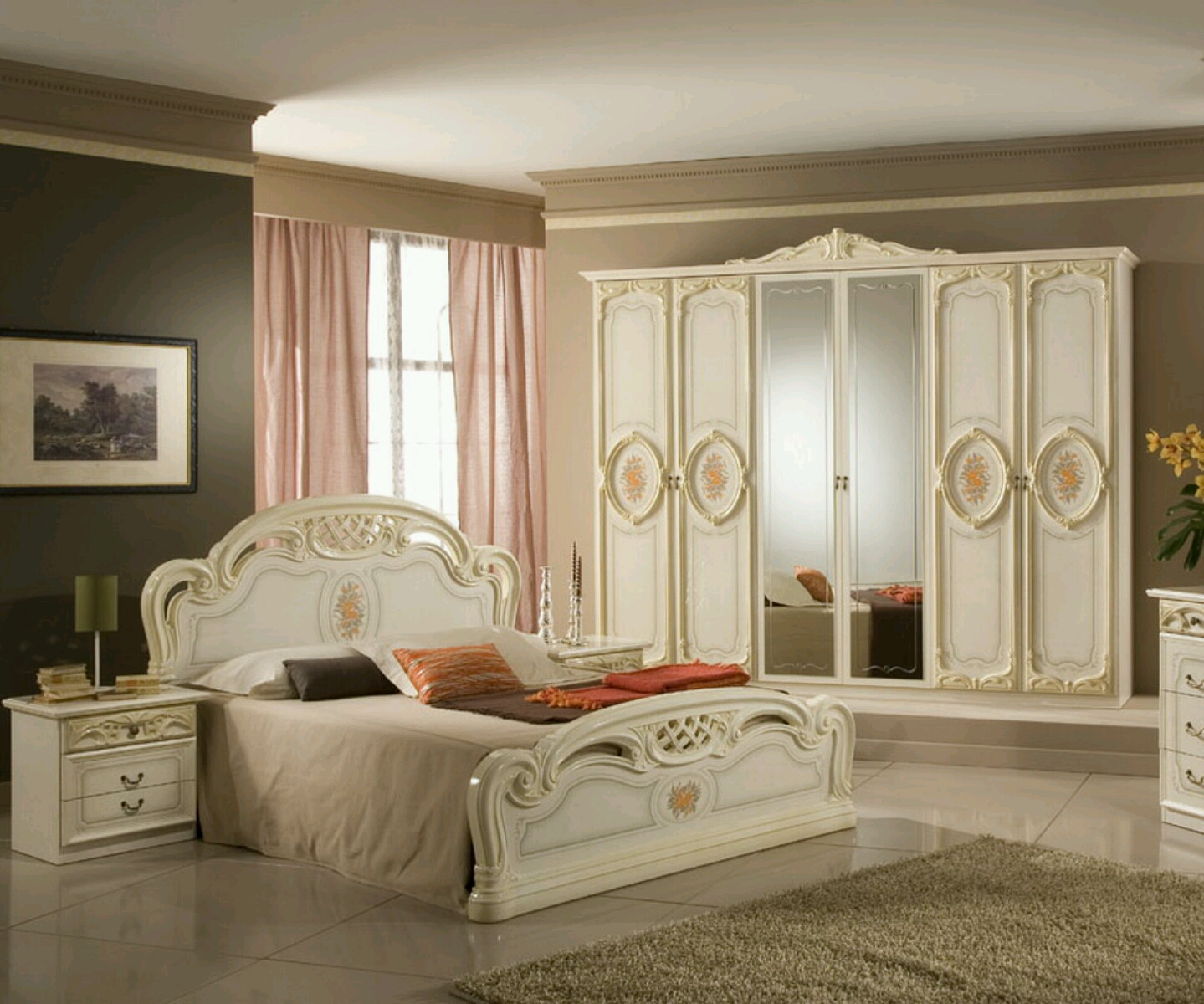 Modern luxury bedroom furniture designs ideas vintage Modern bedroom with antique furniture