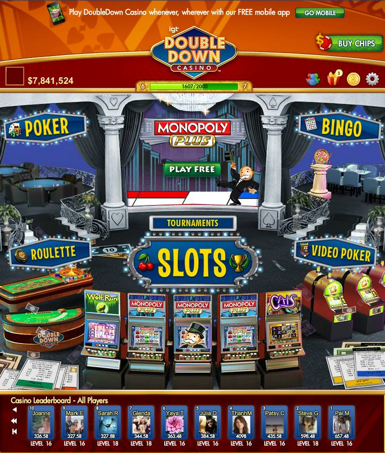 doubledown casino slots poker on facebook