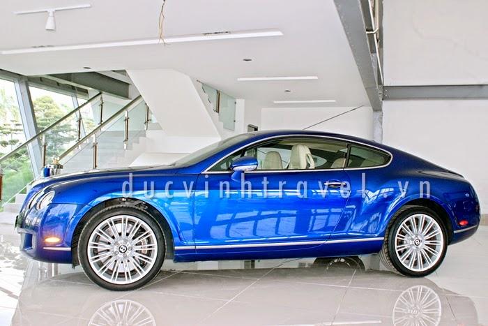 Cho thuê xe cưới Bentley Continental GT Speed Xanh 1