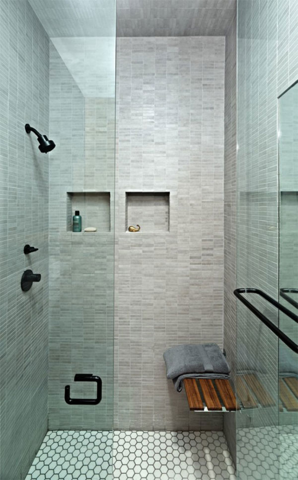 Photo of bathroom showing shower cabin interiors