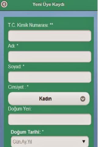 Merkezi Hekim Randevu Sistemi Android Uygulaması resimi 1