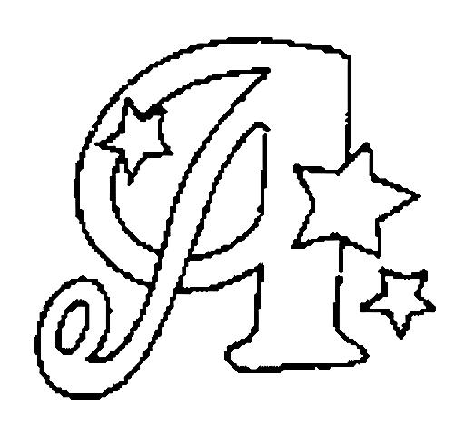 a desenhar Letras Do Alfabeto Letra A colorir