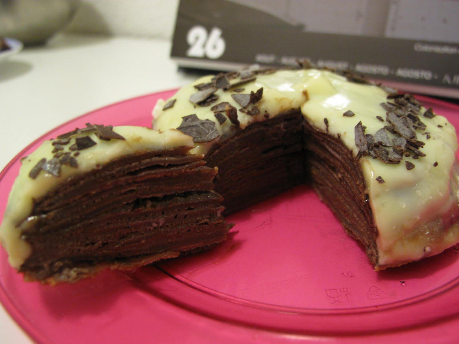 Gateau au crepe au chocolat