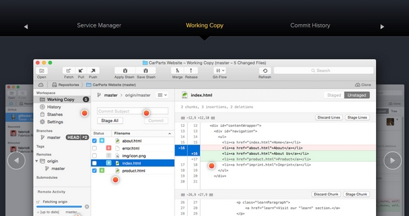 Tower Git client for Mac OS X