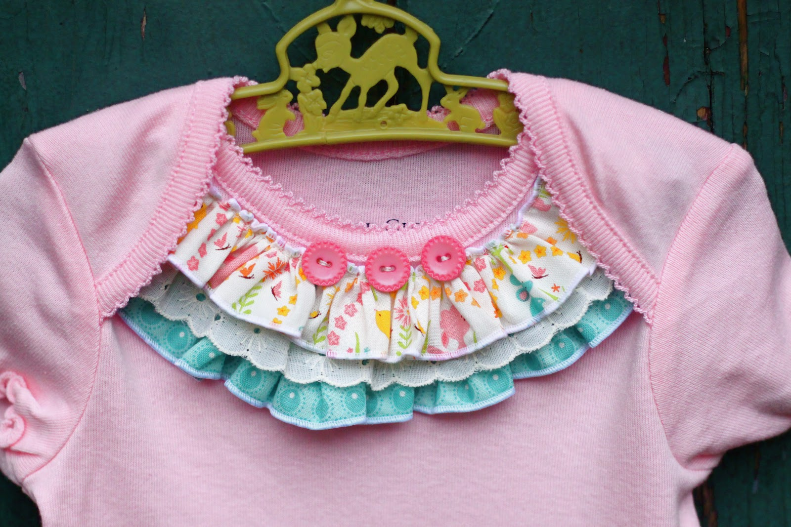 Embellished Onesie Baby Girl Dress - The Cottage Mama