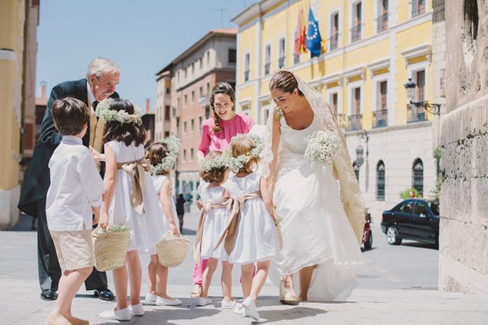 Pajes de boda con capazos