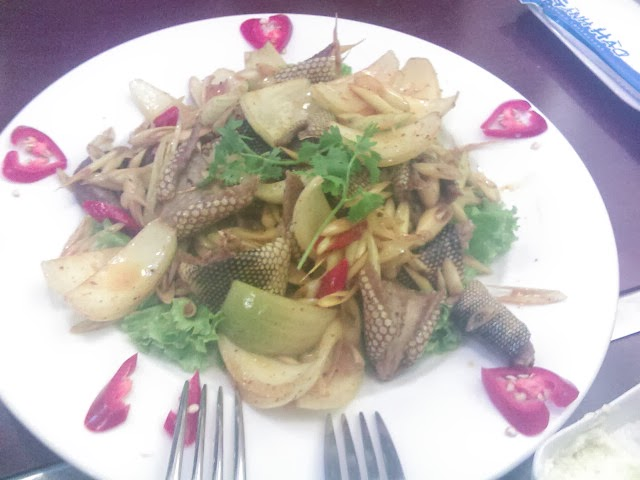 sea snake meat in vung tau, vietnam
