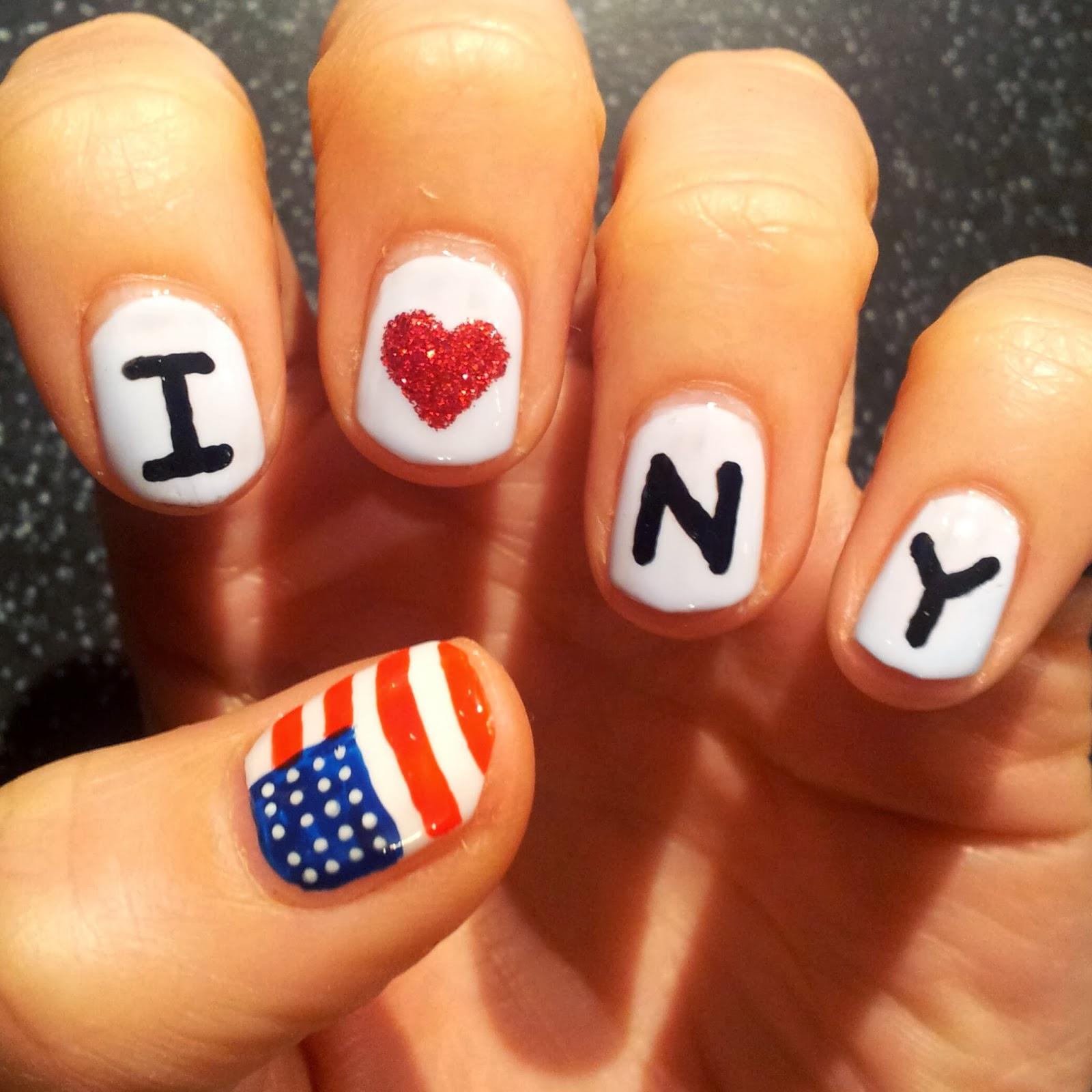 Dahlia Nails: New York City Marathon Mani