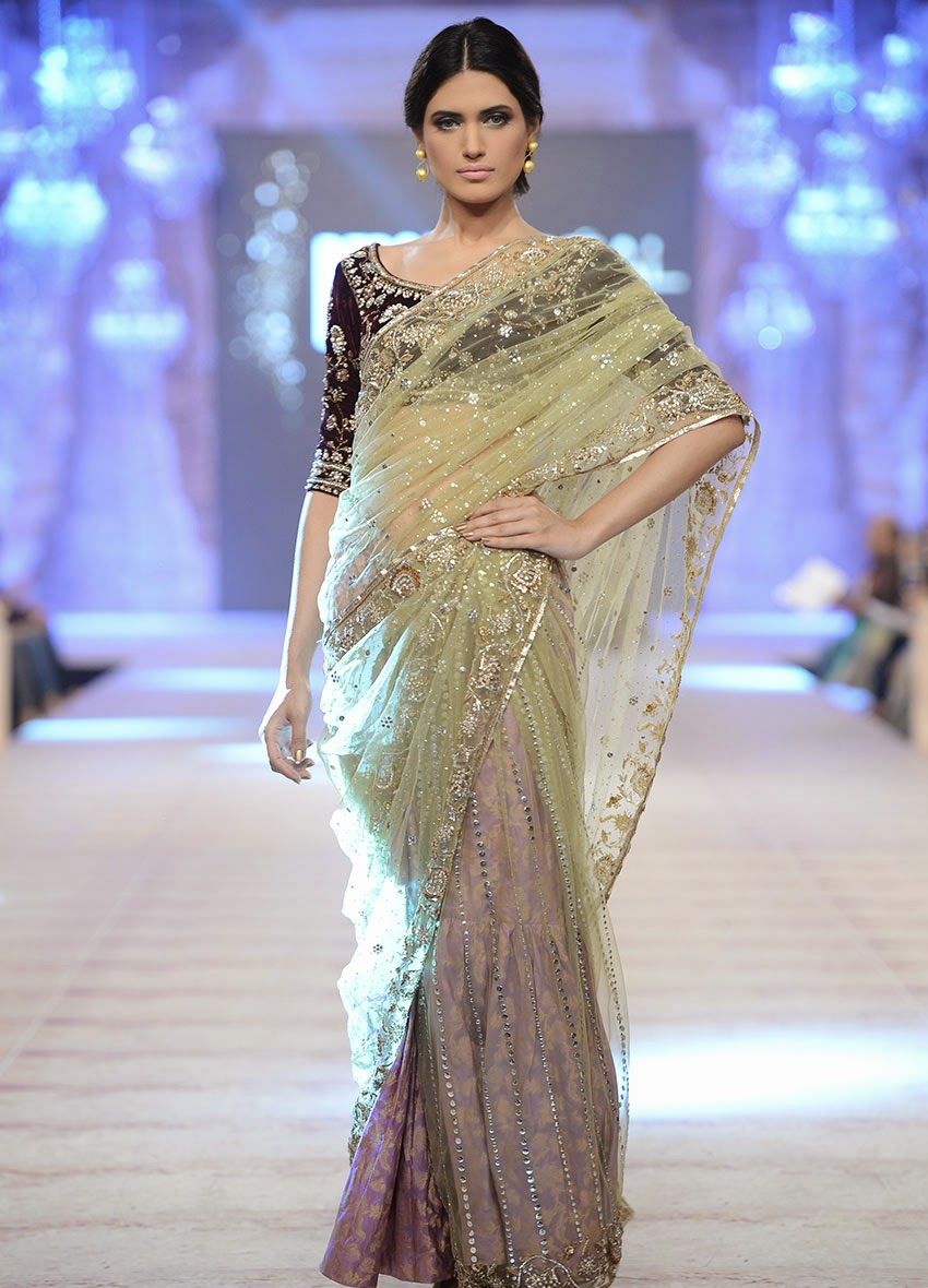 bridal Wear Saree, Latest Saree, 2015.