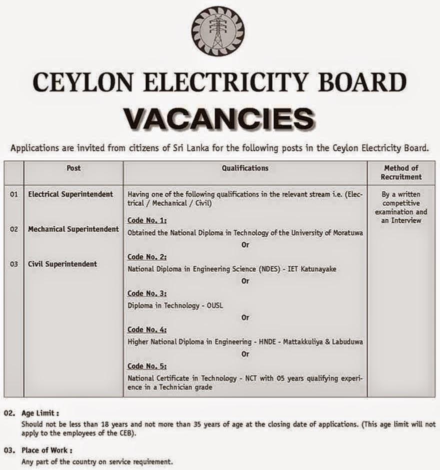 sri lanka job vacancies 2016