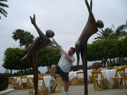 Park Hyatt Aviara courtyard statues