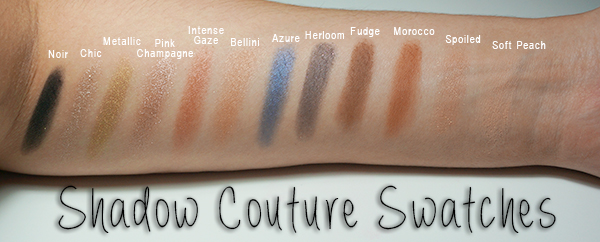 Anastasia Beverly Hills shadow couture shades and swatches