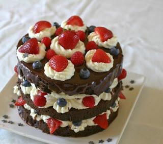 Patriotic Dessert Recipe Picks: Gluten Free Fourth of July Cake