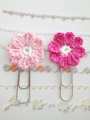 flower paper clips