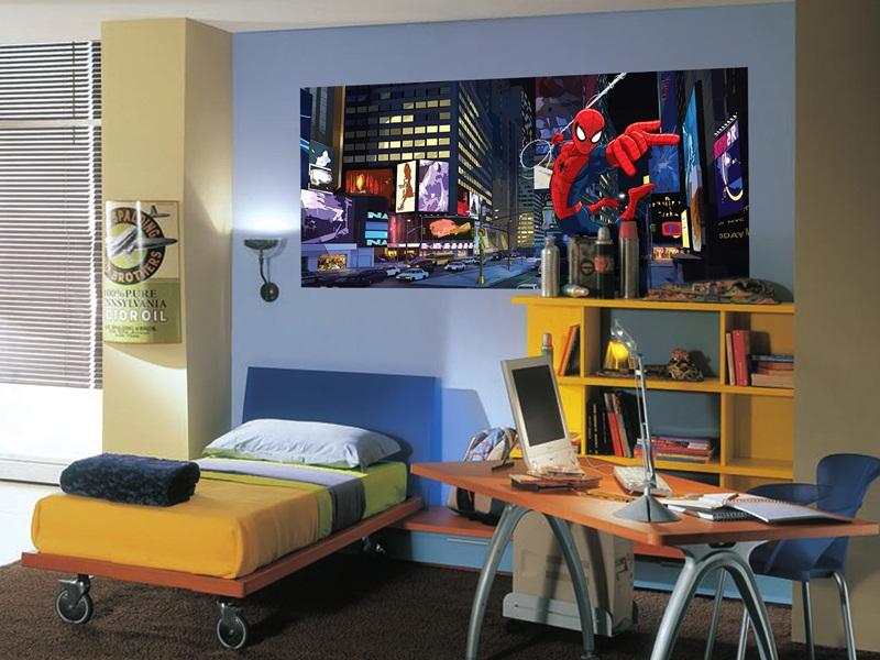 Papel pintado fotomurales panor micos marvel for Programa para decorar habitaciones online