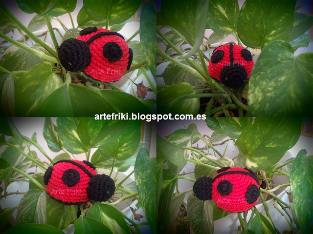 mariquita amigurumi crochet ganchillo ladybug insect animal