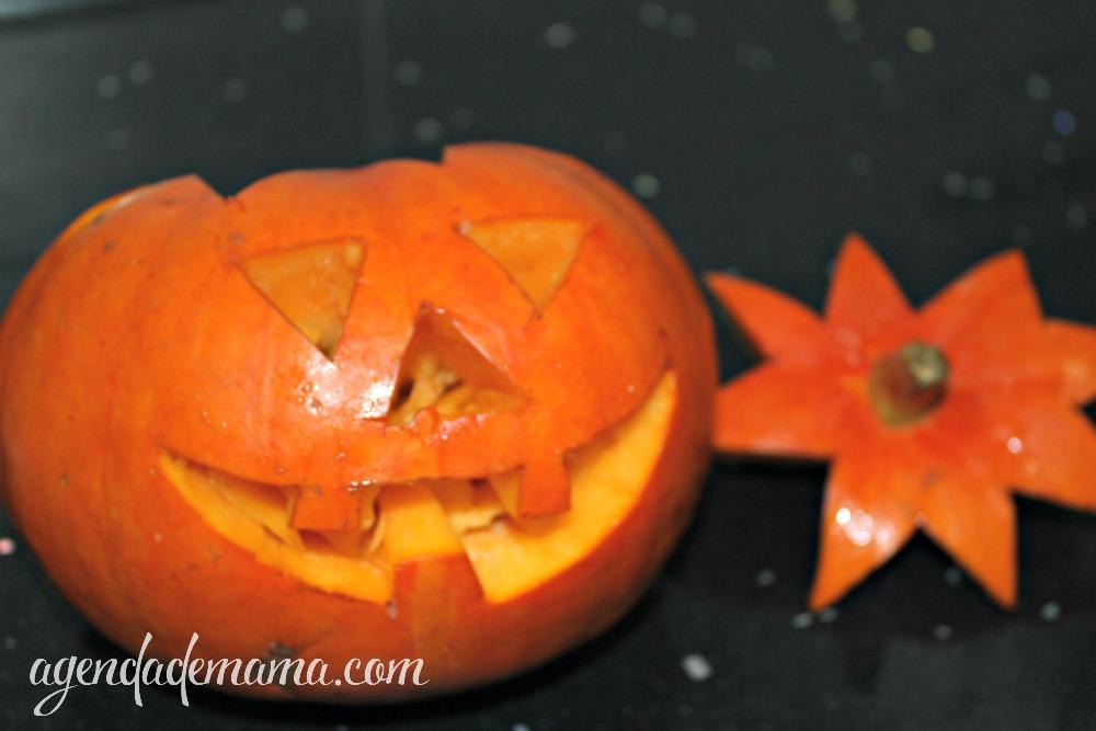 Quita la tapa de tu calabaza de halloween