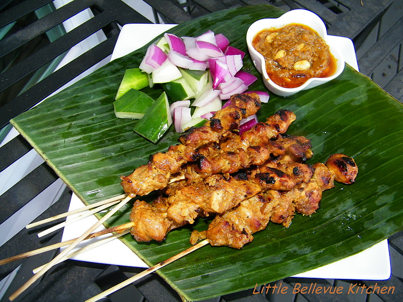 Little Bellevue Kitchen: Grilled Chicken Satay Singapore Style