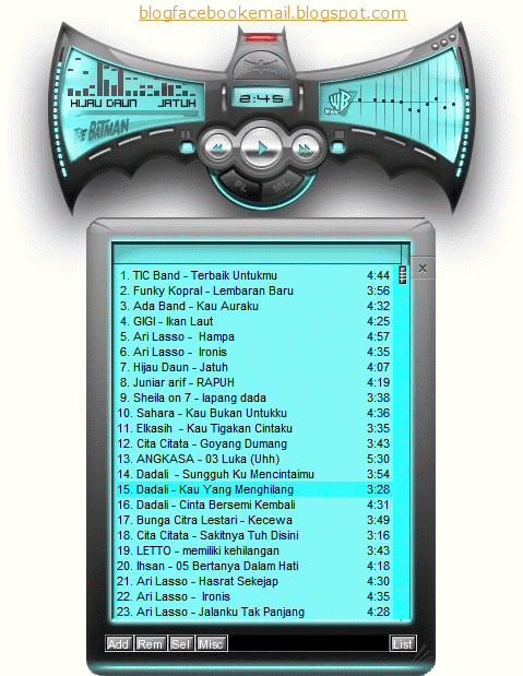 winamp skin the batman