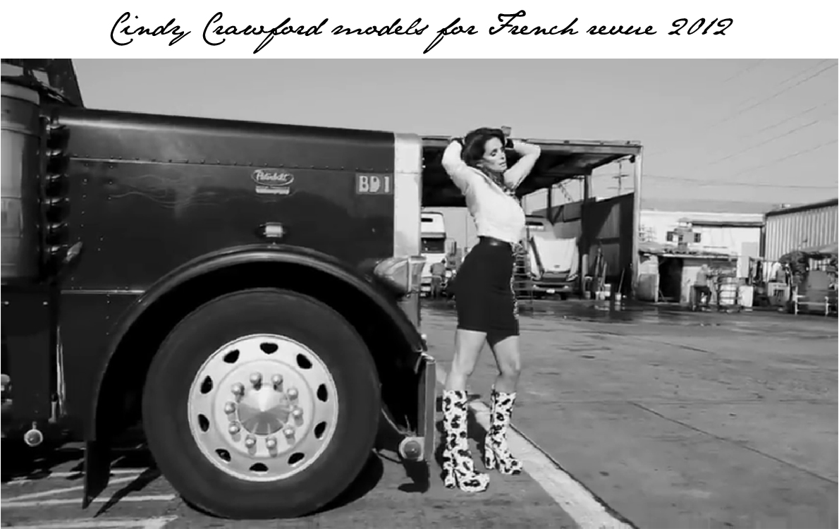 Cindy crawford at a truck stop modelling oh wait it s cindy crawford and truly the woman can make any place on earth look good