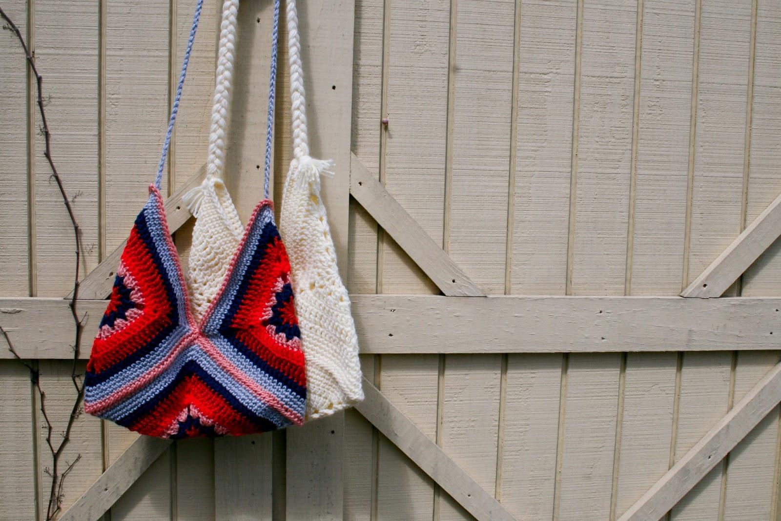 five sixteenths blog: Make It Monday // Boho Crochet Summer Bag