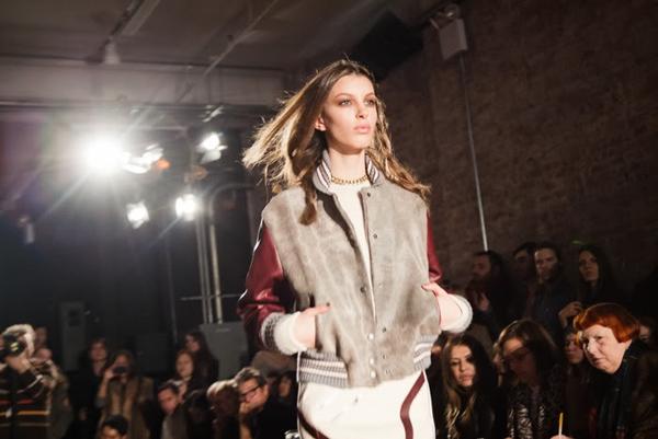 varsity jacket catwalk