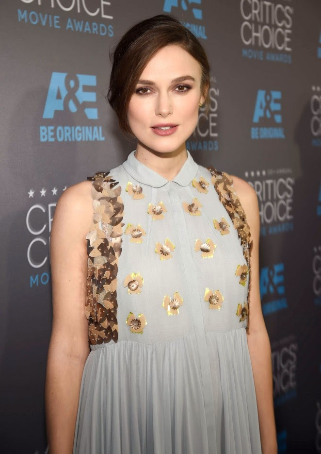 Keira Knightley in a Delpozo gown at the 2015 Critics' Choice Movie Awards