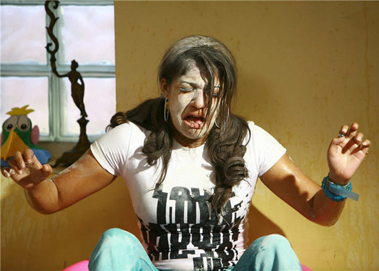 nayanthara in sathyam movie funny picture