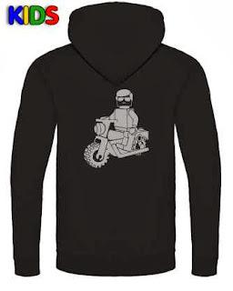 kapucnis gyermek pulóver motorral - online rendelhető