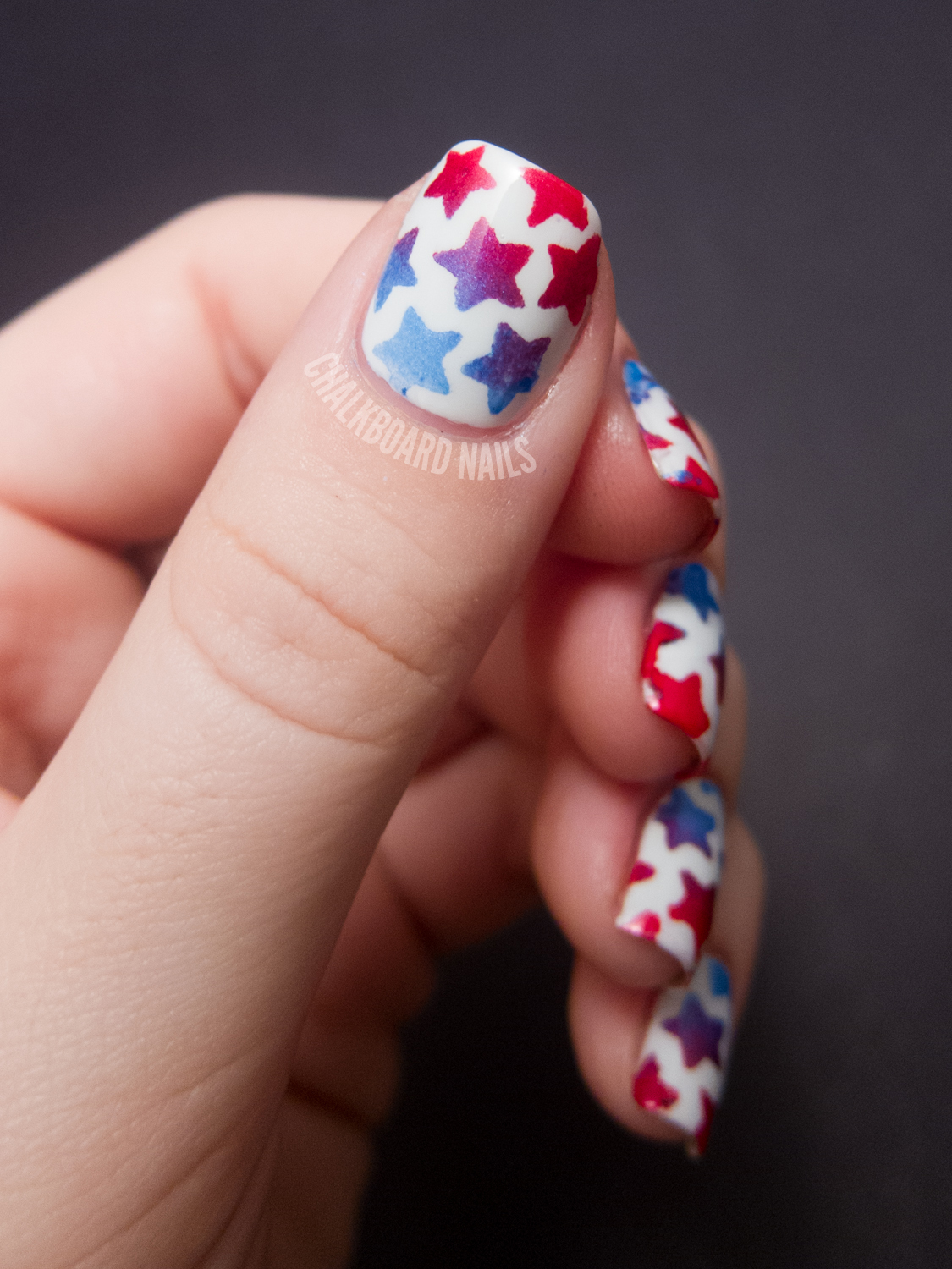 Nail Art Ideas » July 4 Nail Art Design - Pictures of Nail Art ...