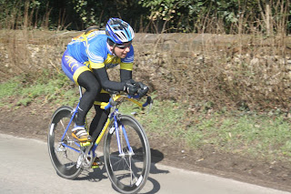 Nick Senechal riding the Welwyn Hilly, 2013.