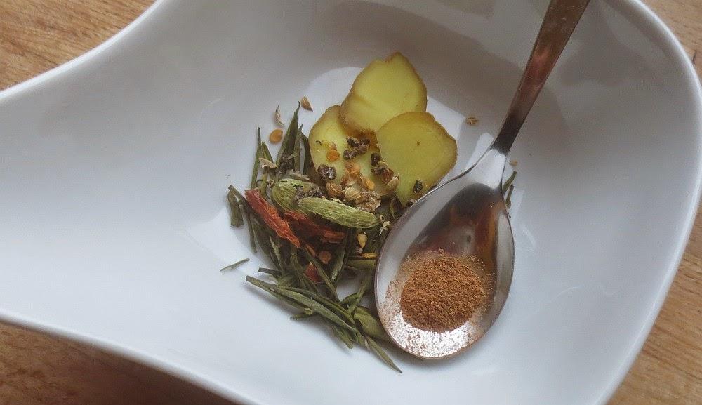 Zutaten Weißer Gewürz-Tee