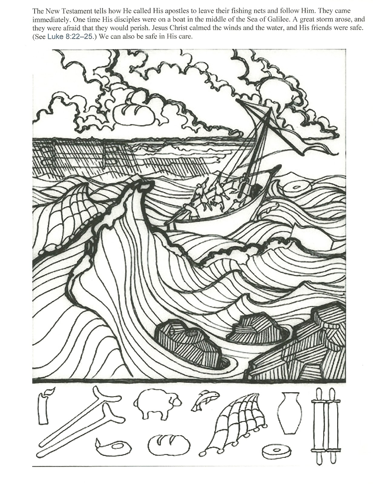ocean storm coloring pages - photo#23