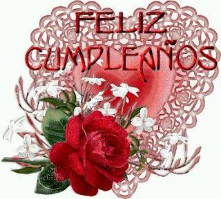 Tarjetas de Cumpleaños con Rosas Rojas, parte 1