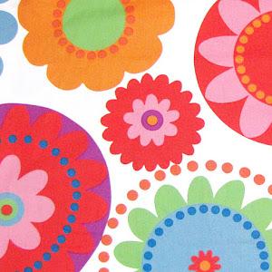 Tela - Flores grandes colores