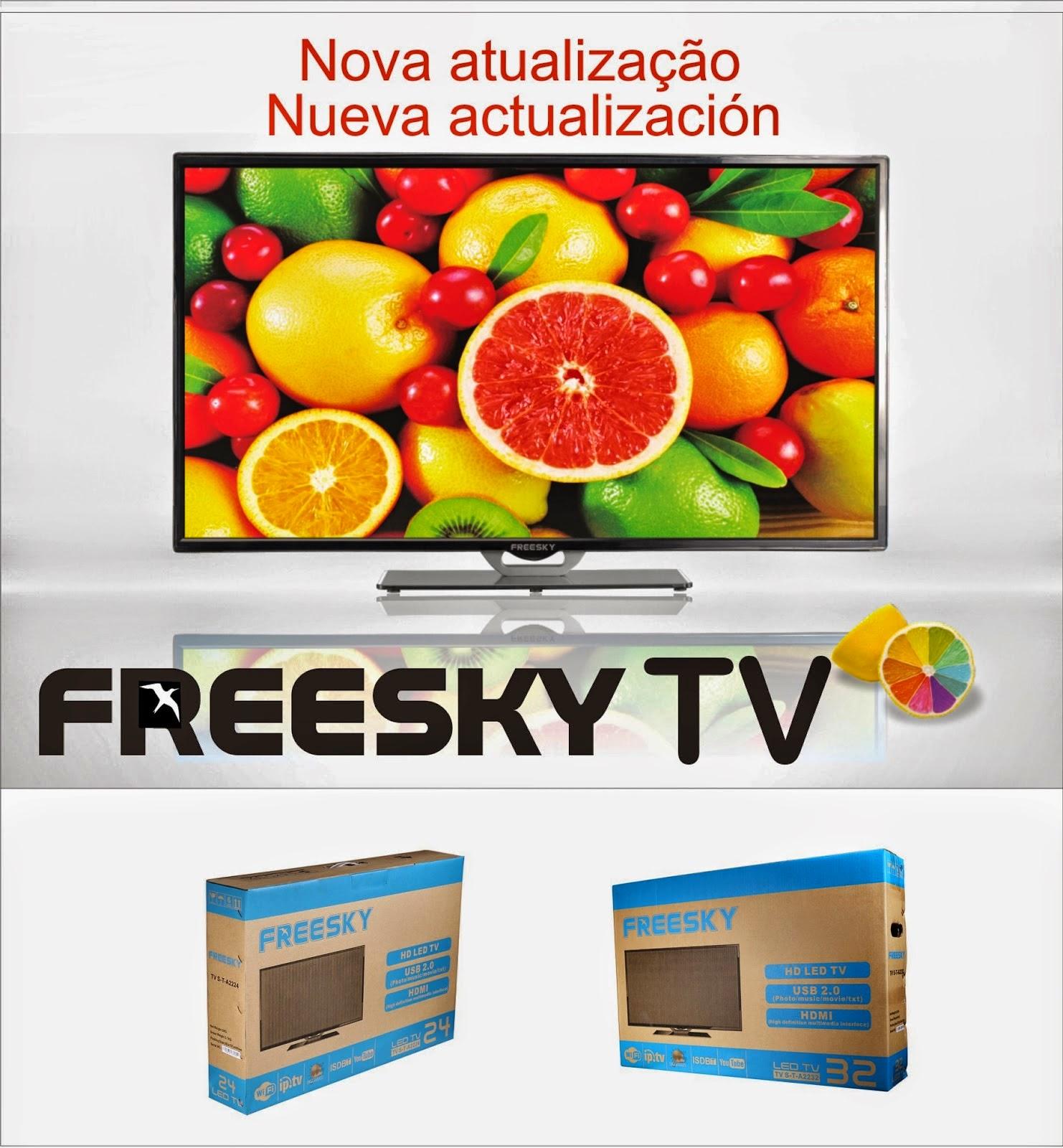 ATUALIZAÇÃO FREESKY TV LED - V2.09 - 26/03/2015