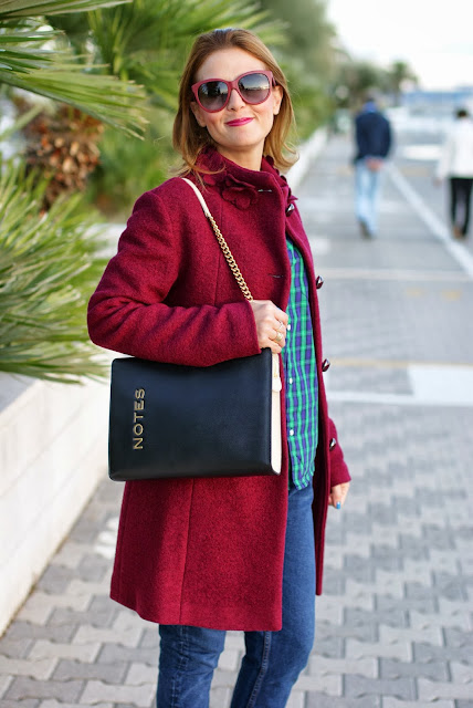 Dolce & Gabbana sunglasses, cappotto VerySimple, boiled wool coat, Fashion and Cookies, fashion blogger