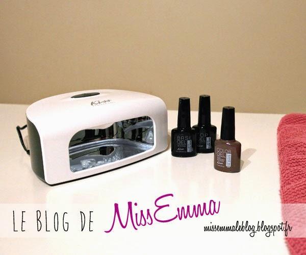 le blog de missemma test kit de vernis semi permanent faire la maison kiss. Black Bedroom Furniture Sets. Home Design Ideas