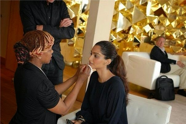 Sonam Kapoor doing press interviews Cannes Film Festival