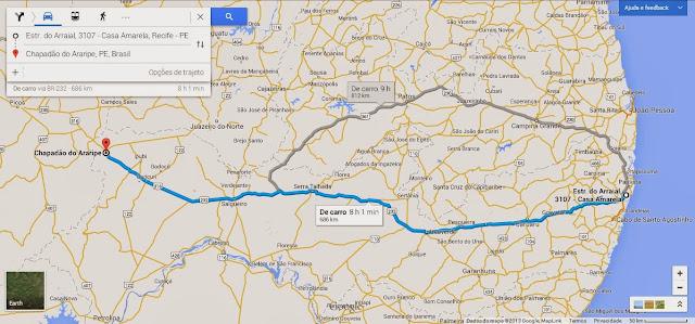 Em busca da classificação, a  690 km da capital