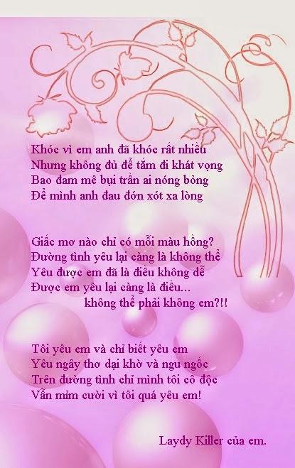 những bài thơ tình hay nhất