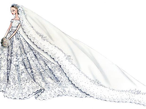 Vestido de novia de Valentino para Magdalena de Suecia