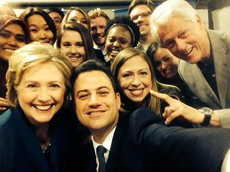 Move Over Ellen..... Jimmy Kimmel Takes Selfie With The Clintons