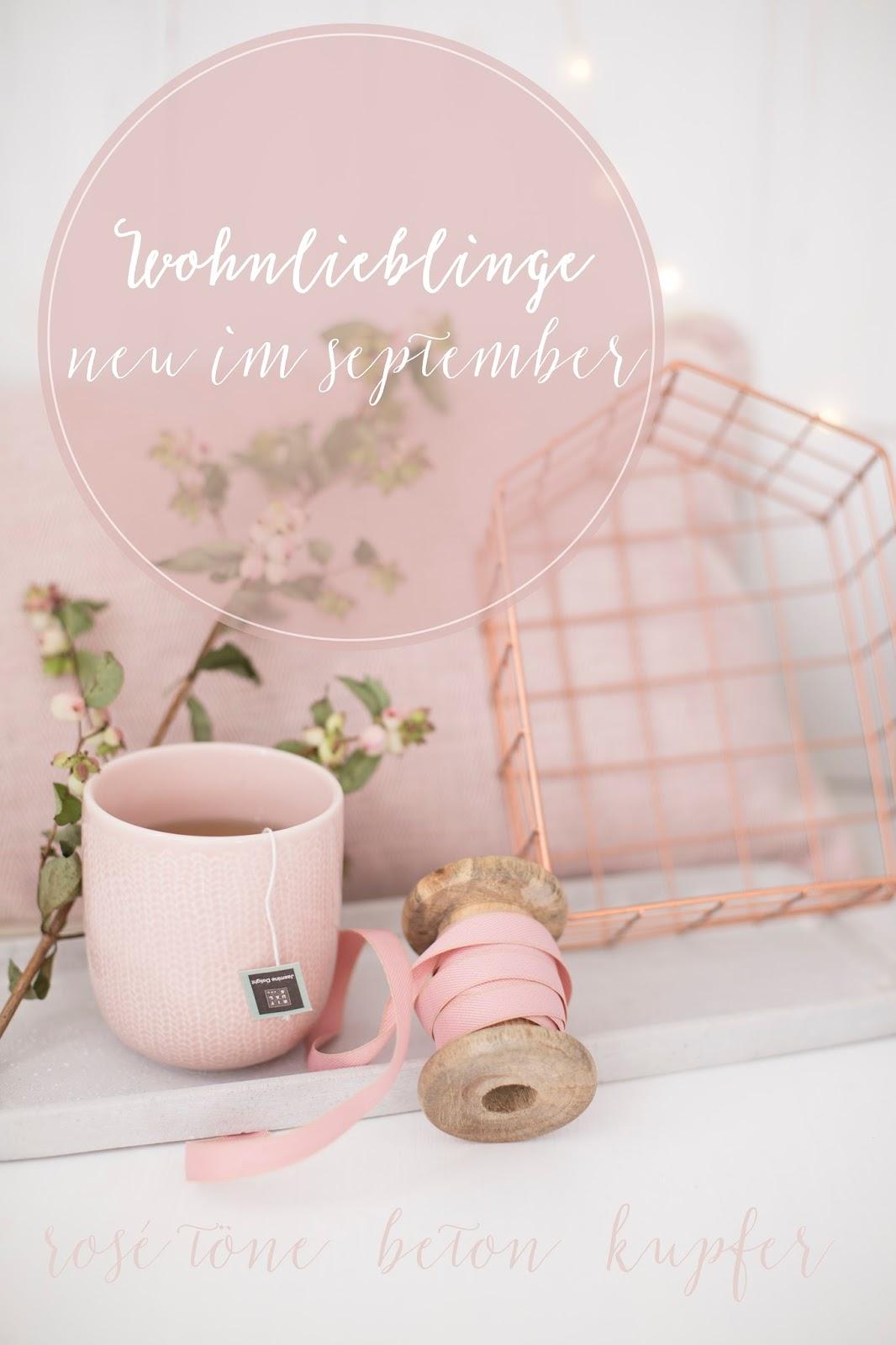Wohnlieblinge im September - rosé, Beton und Kupfer