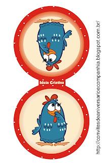 Toppers para  Cupcake Galinha Pintadinha