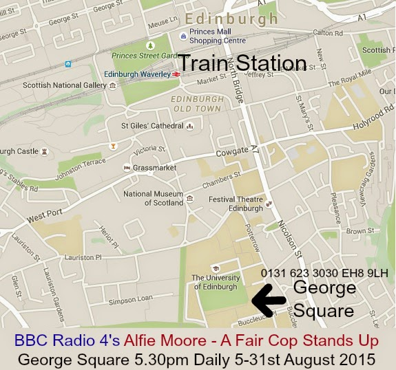 Assembly George Square Edinburgh Map EH8 9LH alfie moore A fair cop Stands up bbc radio 4 comedy edinburgh fringe edinburgh festival edfringe edfest