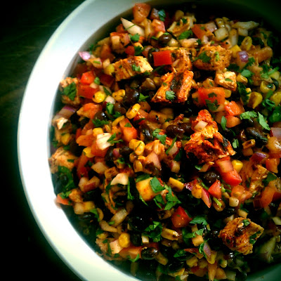 La Dama Cooks: La Dama Cooks... Grilled Achiote Chicken Salad