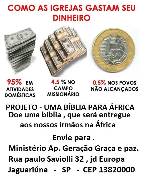 PROJETO - UMA BÍBLIA PARA ÁFRICA