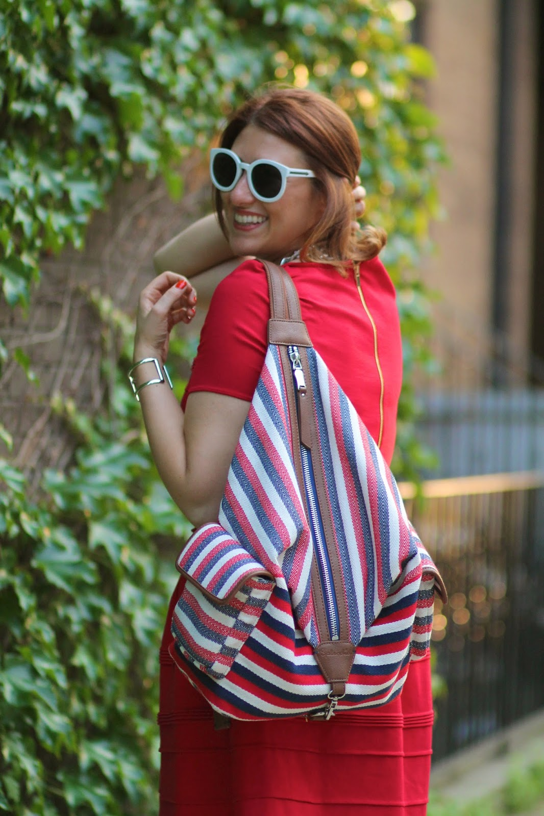 splendid, bag, striped, backpack